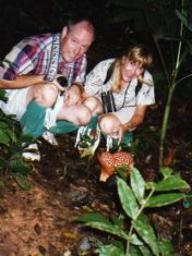 With Rafflesia in Borneo