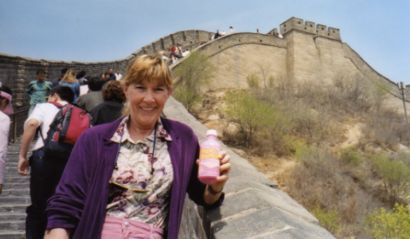 Pepto-bismol on the Great Wall of China