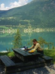 Picnicking beside the fjord