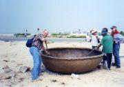 Vietnam round fishing boat