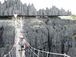 Hiking the Tsingy in Madagascar