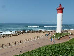 Umhalnga Rocks Lighthouse and beach near Durban South Africa