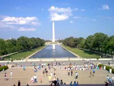 Washington DC Mall with Washington Monument