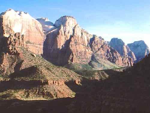 Zion West Canyon Sunrise